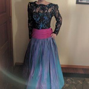 VINTAGE sequin princess gown size XS/S